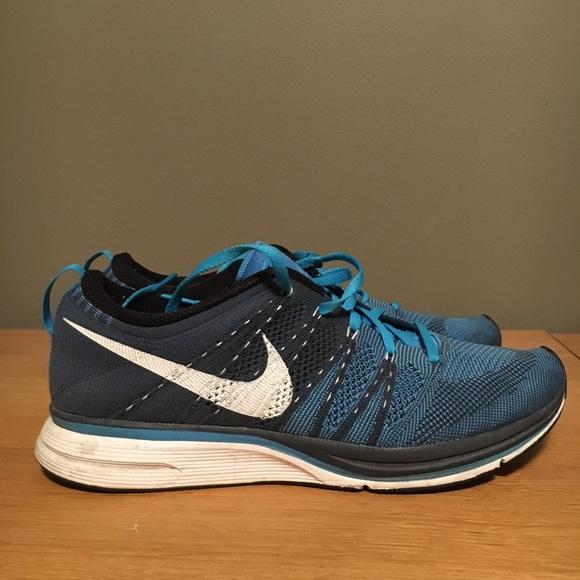 Nike Flyknit Trainer Blue Glow sz 9.5